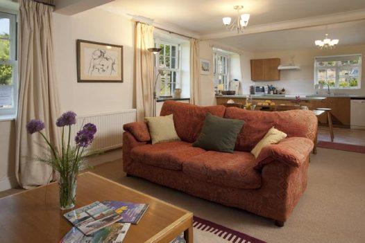 The cosy living room in Little Lynam in Rock