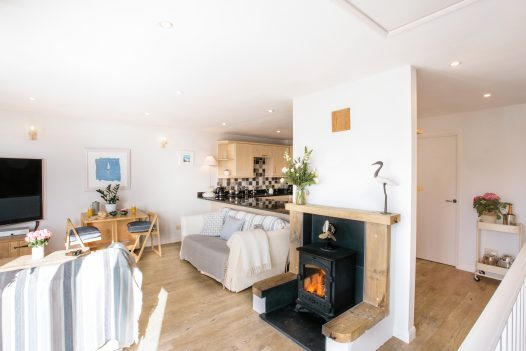 Couples will love cosying up beside the crackling log burner