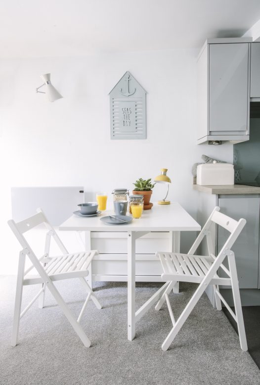 Just for two - the cosy dining area at 2 The Old Bakehouse, a self-catering apartment for two in Port Isaac