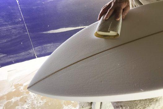 Handmade Bunty surfboard by Local Hero Surfboards, Wadebridge, North Cornwall