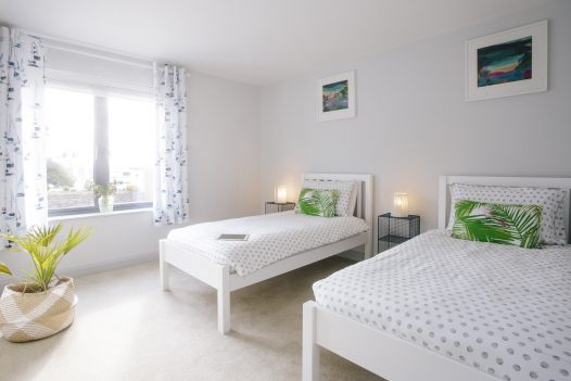 Smaller groups can use just two or three bedrooms at Appleby, a self-catering holiday home in Daymer Bay, North Cornwall