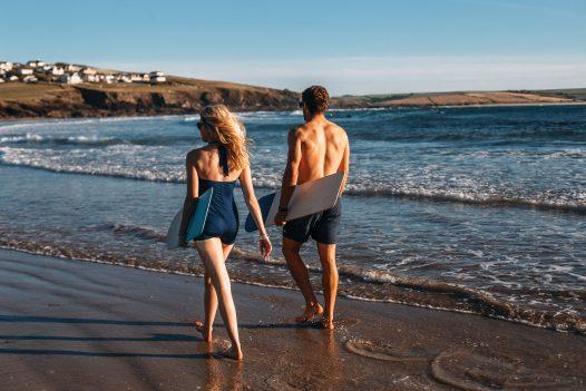 Out of season escape to Polzeath Beach, North Cornwall