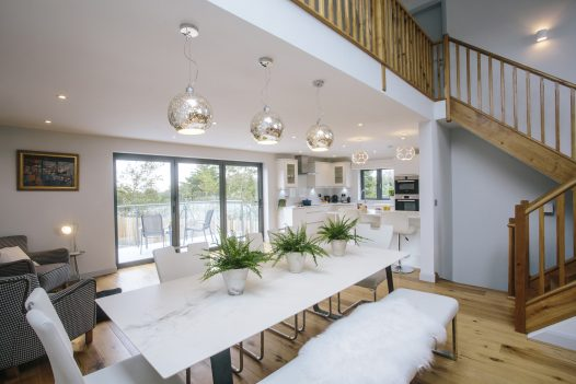 Contemporary living spaces at Appleby, a self-catering holiday home in Rock, North Cornwall