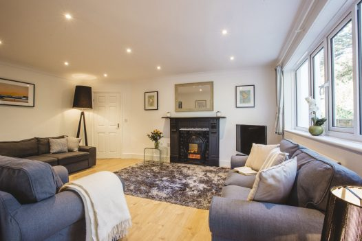Pinetree Lodge a self-catering holiday home in Polzeath, North Cornwall, available on a low occupancy rate.
