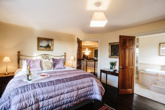 Beautiful bedroom at Rockhaven Manor a self-catering holiday home in Rock, North Cornwall, available on a low occupancy rate.