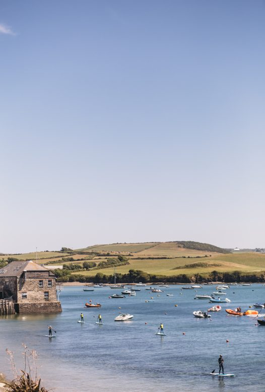 The view from Orchard House in Rock, the ideal proeprty for a sailing or watersports holiday