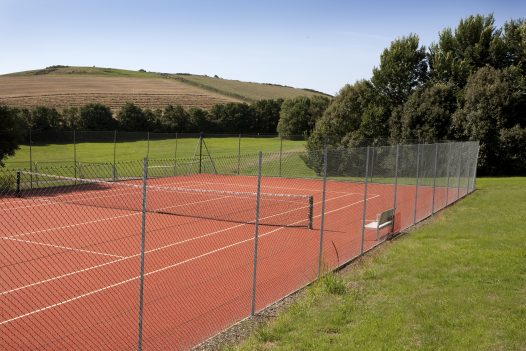 Tennis court at Cant Farm, Rock, North Cornwall