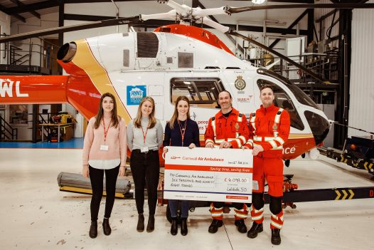 Latitude50 donate to the Cornwall Air Ambulance New Heli Appeal