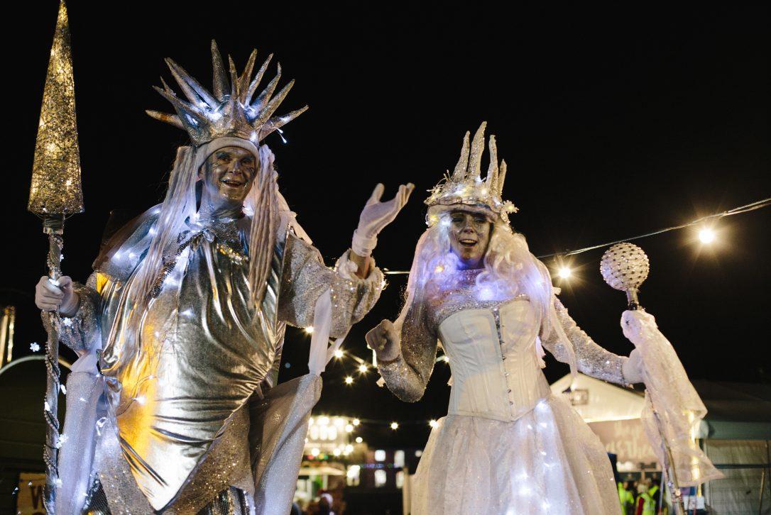 Lantern parade at Padstow Christmas Festival