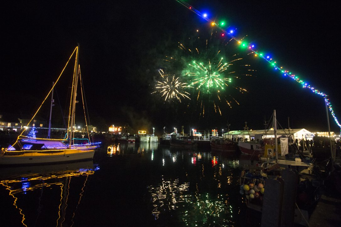 Fireworks at Padstow Christmas Festival