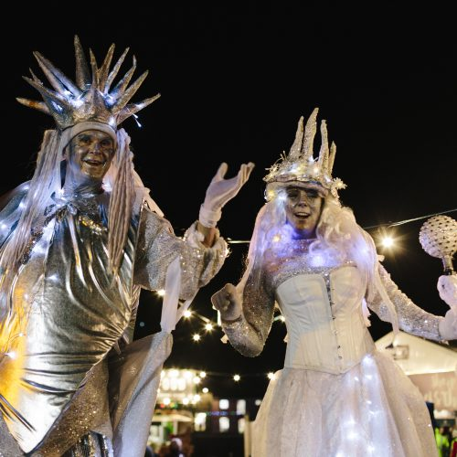 Lantern parade at Padstow Christmas Festival
