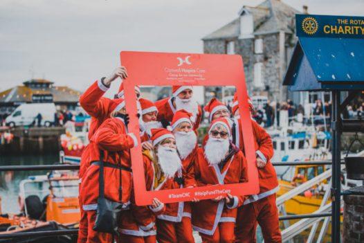 Santa run at Padstow Christmas Festival