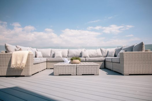 Relax on the balcony at Parker's Place, a self-catering holiday home in Polzeath, North Cornwall