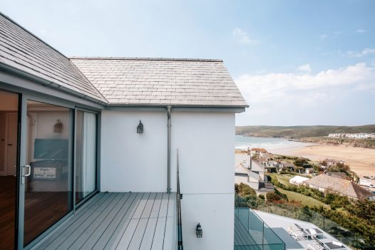 The sea view from Parker's Place, a self-catering holiday home in Polzeath, North Cornwall