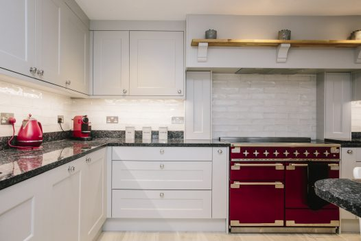Kitchen at Parker's Place, a self-catering holiday home above Polzeath beach in Cornwall