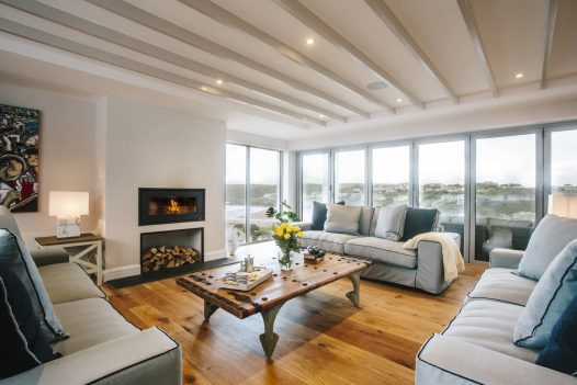 Lounge at Parker's Place, a self-catering holiday home in Polzeath, North Cornwall