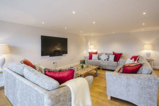 TV room at Parker's Place, a self-catering holiday home in Polzeath, North Cornwall