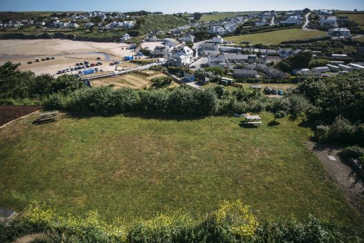 Garden at Parker's Place, a self-catering holiday home in Polzeath, North Cornwall