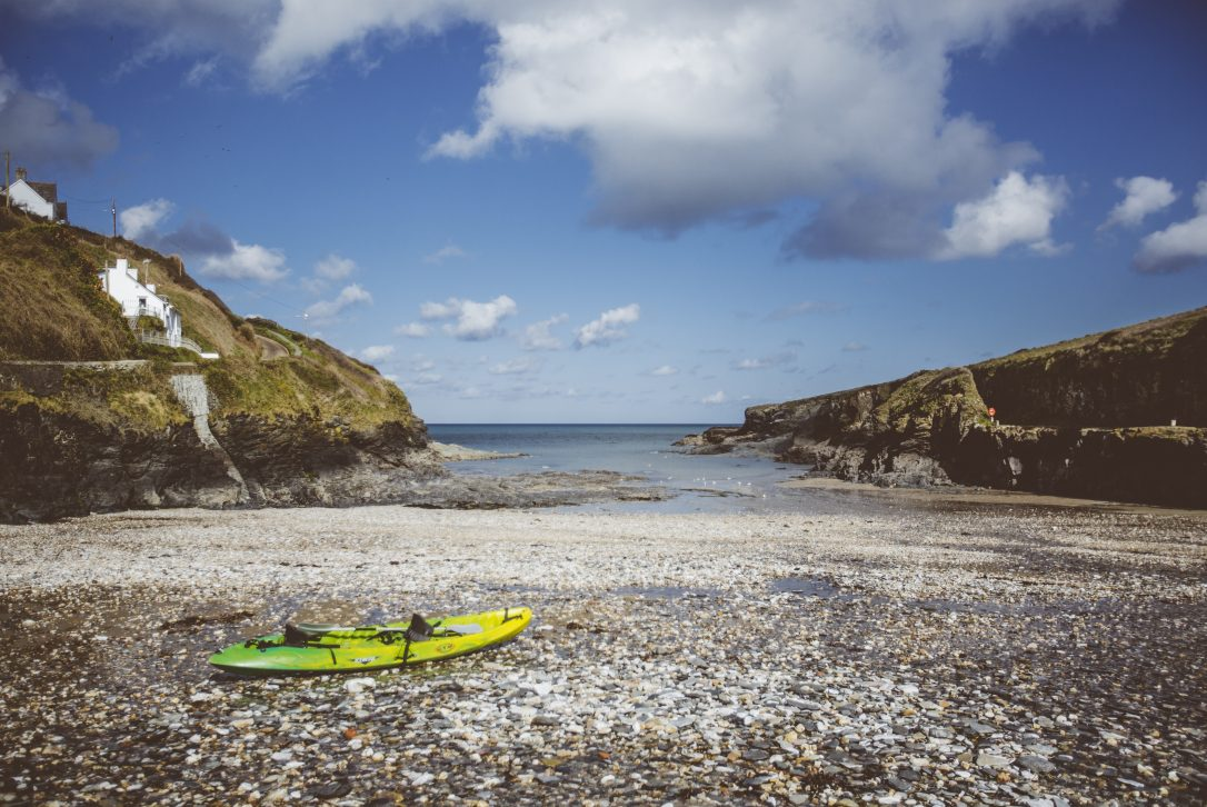 From Penquite House you can easily get to Port Gaverne and enjoy a kayaking session with Cornish Rock Tors