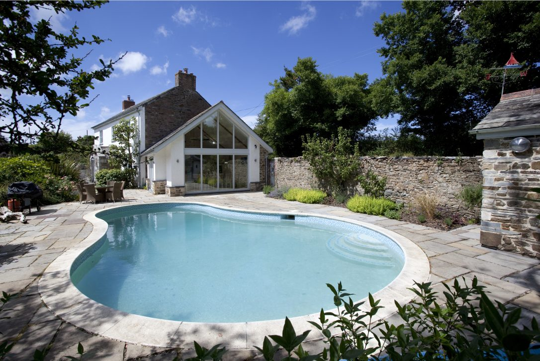 Penquite House, a luxury self-catering holiday home near Port Isaac with heated swimming pool