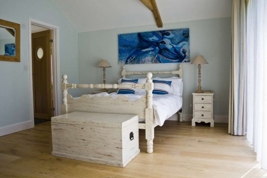 Bedroom in Penquite Annex which can be let with Penquite House, sleeping twelve and near Port Isaac