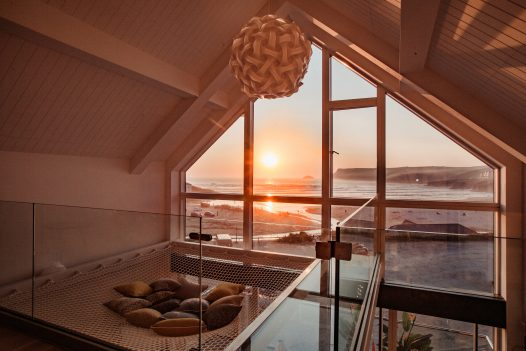 Chyanna, Gwel Trelsa and Polsted, three brand new luxury self-catering beach houses next to Ann's Cottage and right beside the beach in Polzeath