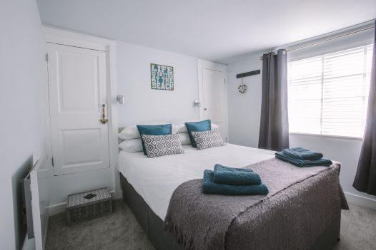 Bedroom at 2 The Old Bakehouse, a self-catering holiday apartment in Port Isaac, North Cornwall