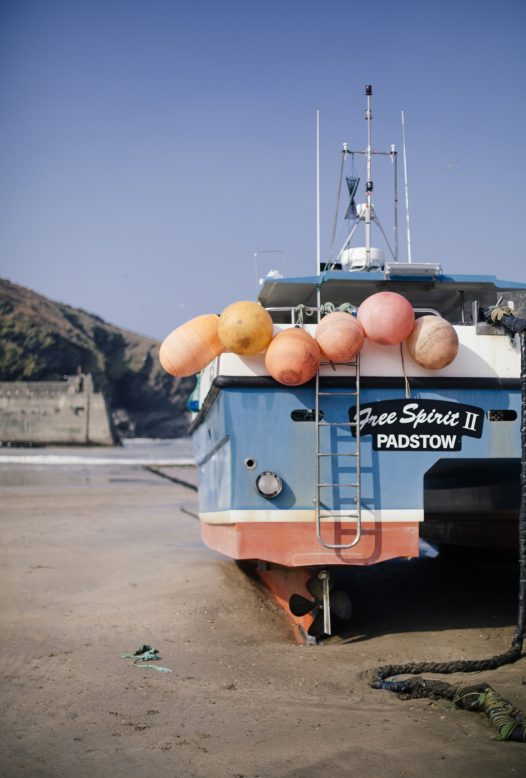 Fishing boats in the harbour at Port Isaac