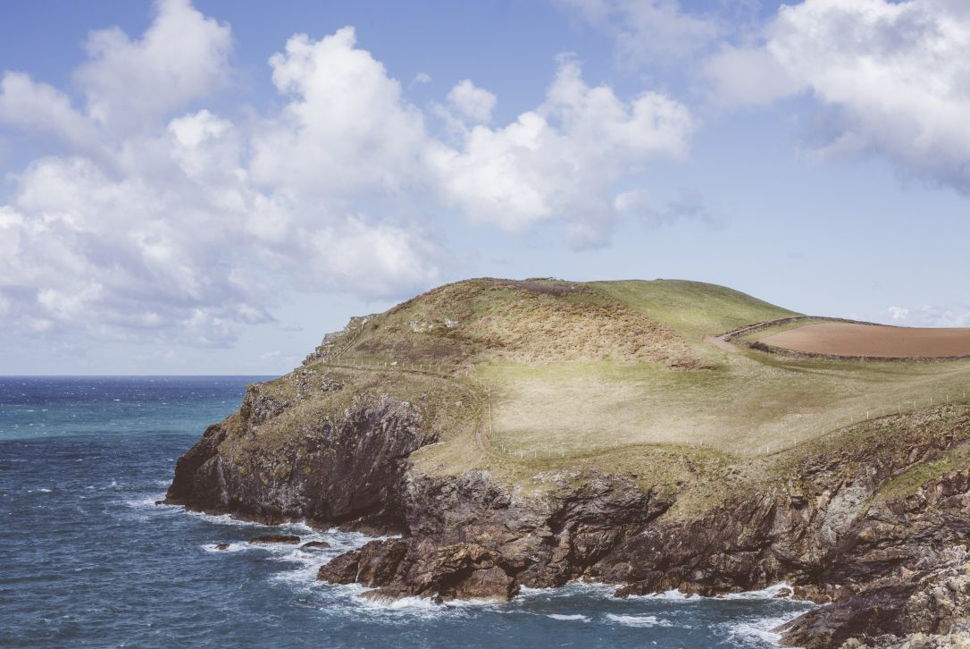 View of the headland at Port Quin, North Cornwall