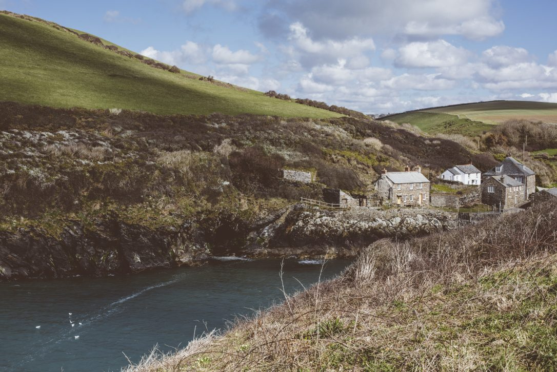 View from the fields at Port Quin, North Cornwall