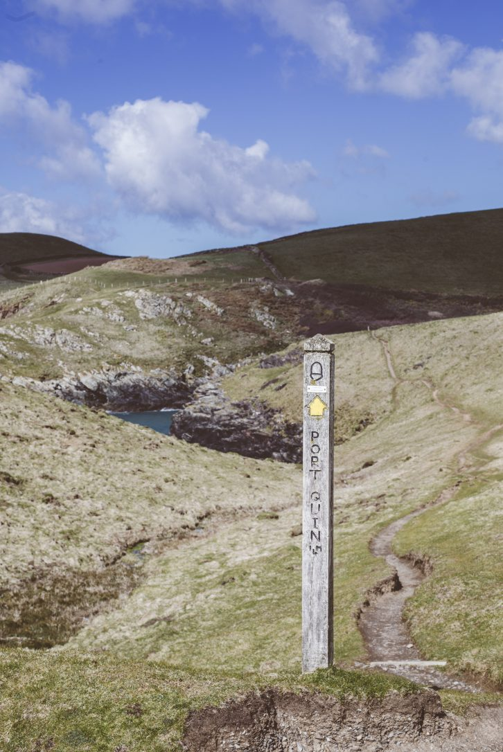 Coast path at Port Quin, North Cornwall