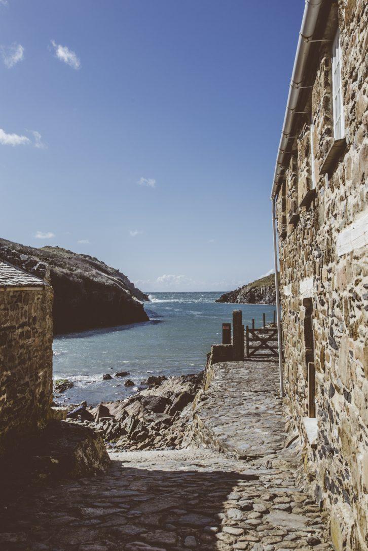 Path down to Port Quin beach, North Cornwall