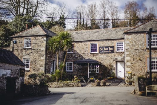 Enjoy a cosy lunch at the St Kew Inn, the perfect rainy day activity in North Cornwall