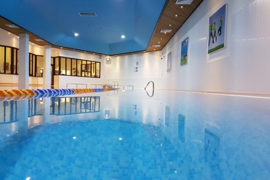 Indoor swimming pool at The Point in Polzeath, perfect for a rainy day