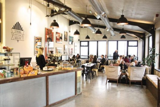 Brunch at Strong Adolfos cafe, the perfect rainy day activity in North Cornwall