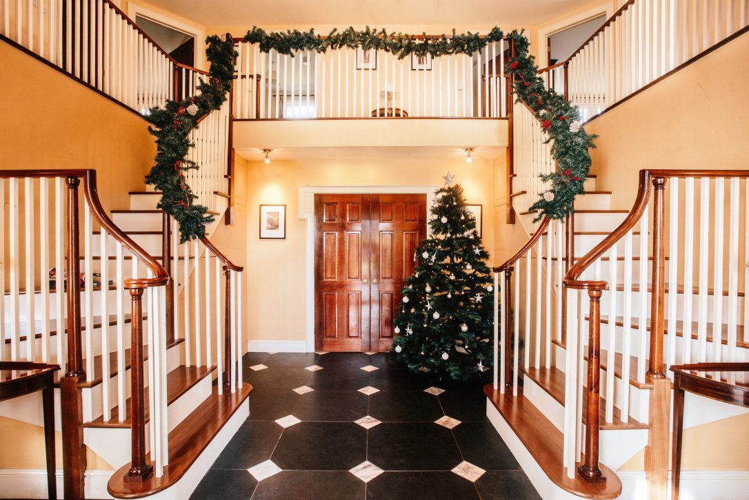 Entrance hall at Rockhaven Manor, a self-catering holiday house in Rock, North Cornwall.
