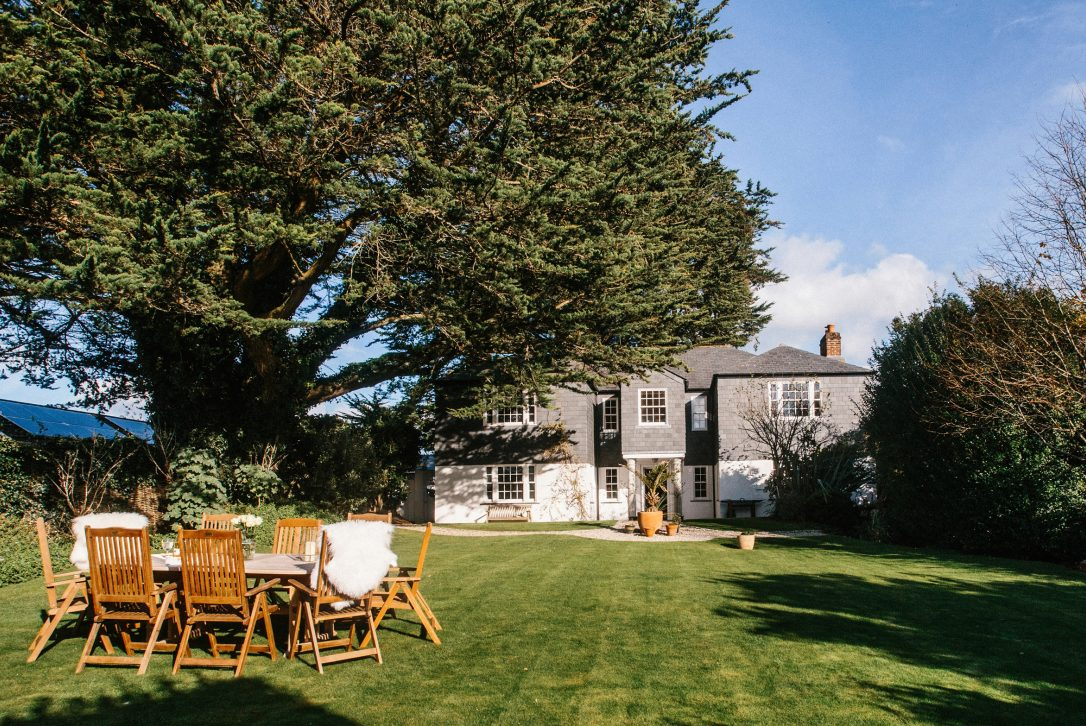 Garden at Rockhaven Manor, a self-catering holiday home in Rock, North Cornwall.