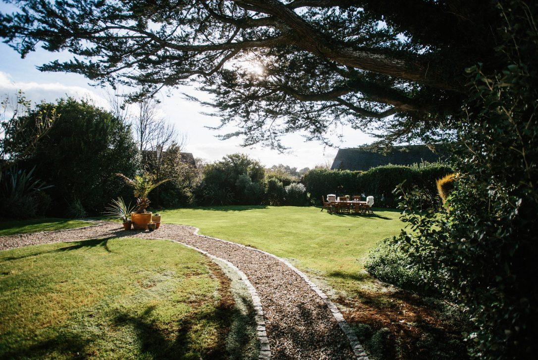 Garden at Rockhaven Manor, a self-catering holiday property in Rock, North Cornwall.