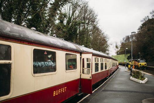 Santa by Steam train at Bodmin General Station, North Cornwall.