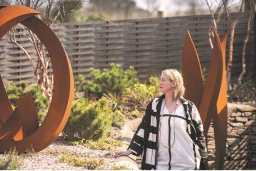 Jill Clarke - artist and sculpture and creator of the Porthilly Sculpture Garden