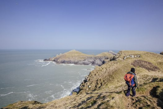 Take the South West Coast Path along to The Rumps
