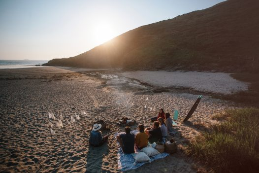 Beach barbecue at Baby Bay, Polzeath, North Cornwall
