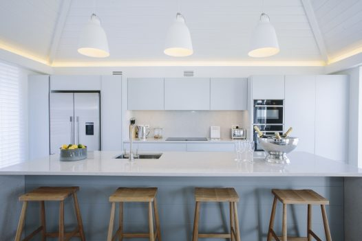 Kitchen at Carn Mar in Polzeath, recently awarded Silver at the South West Tourism Awards 2019