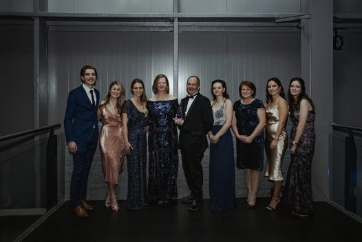 The Latitude50 team win Silver for Self Catering Accommodation of the Year at the South West Tourism Awards 2019 at Aerospace Bristol