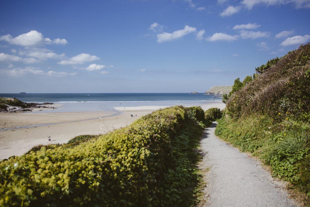 South West Coast Path in Polzeath, North Cornwall