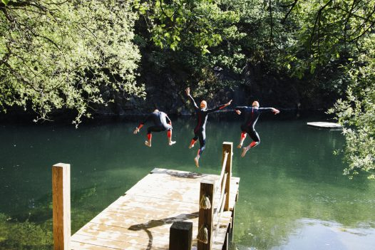 Open water swimming in North Cornwall