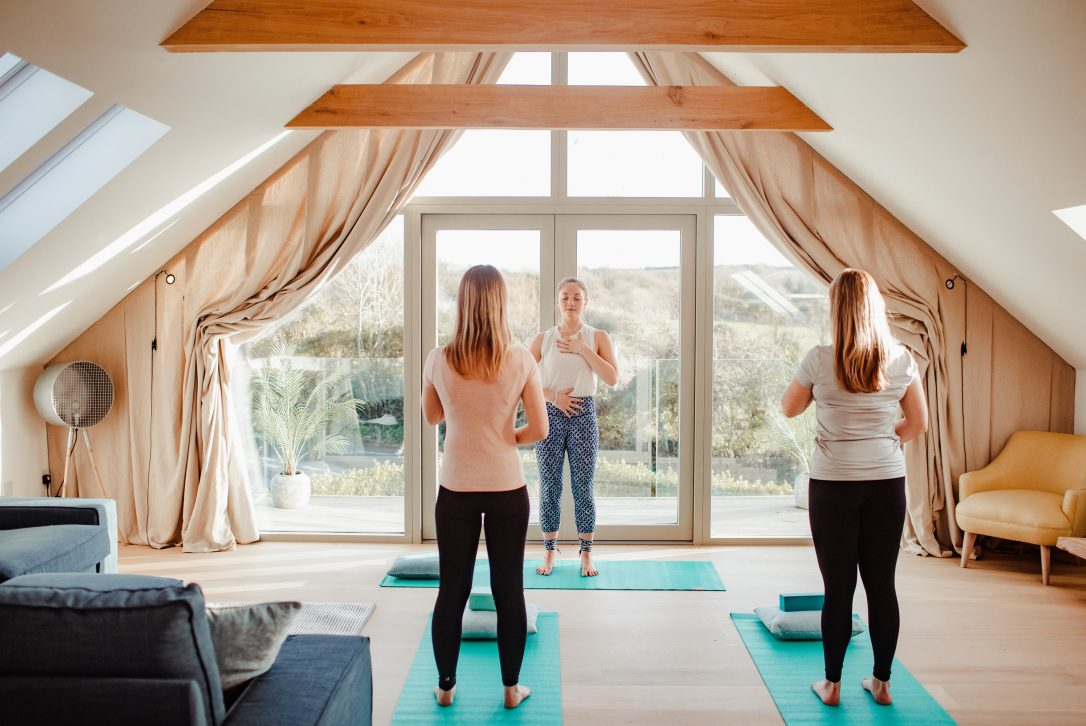Private yoga on holiday in North Cornwall