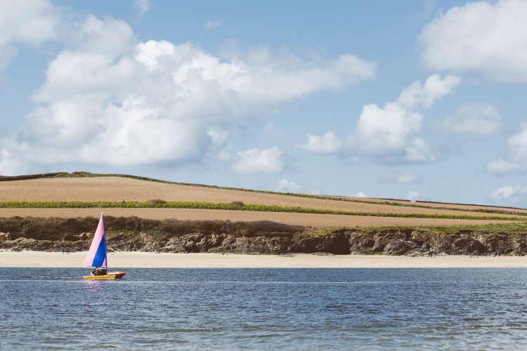 Sailing on the Camel Estuary, North Cornwall
