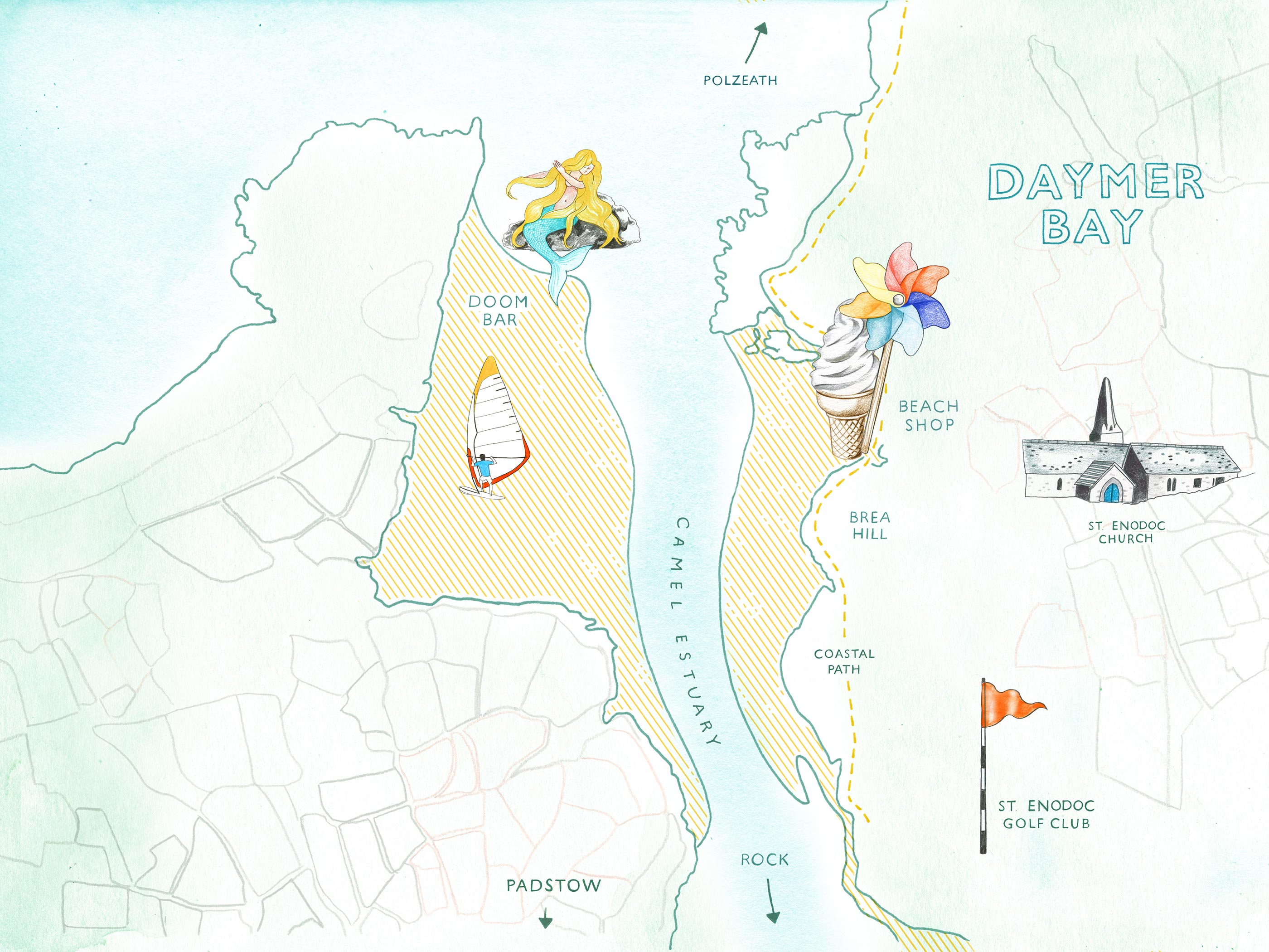 Map of Daymer Bay