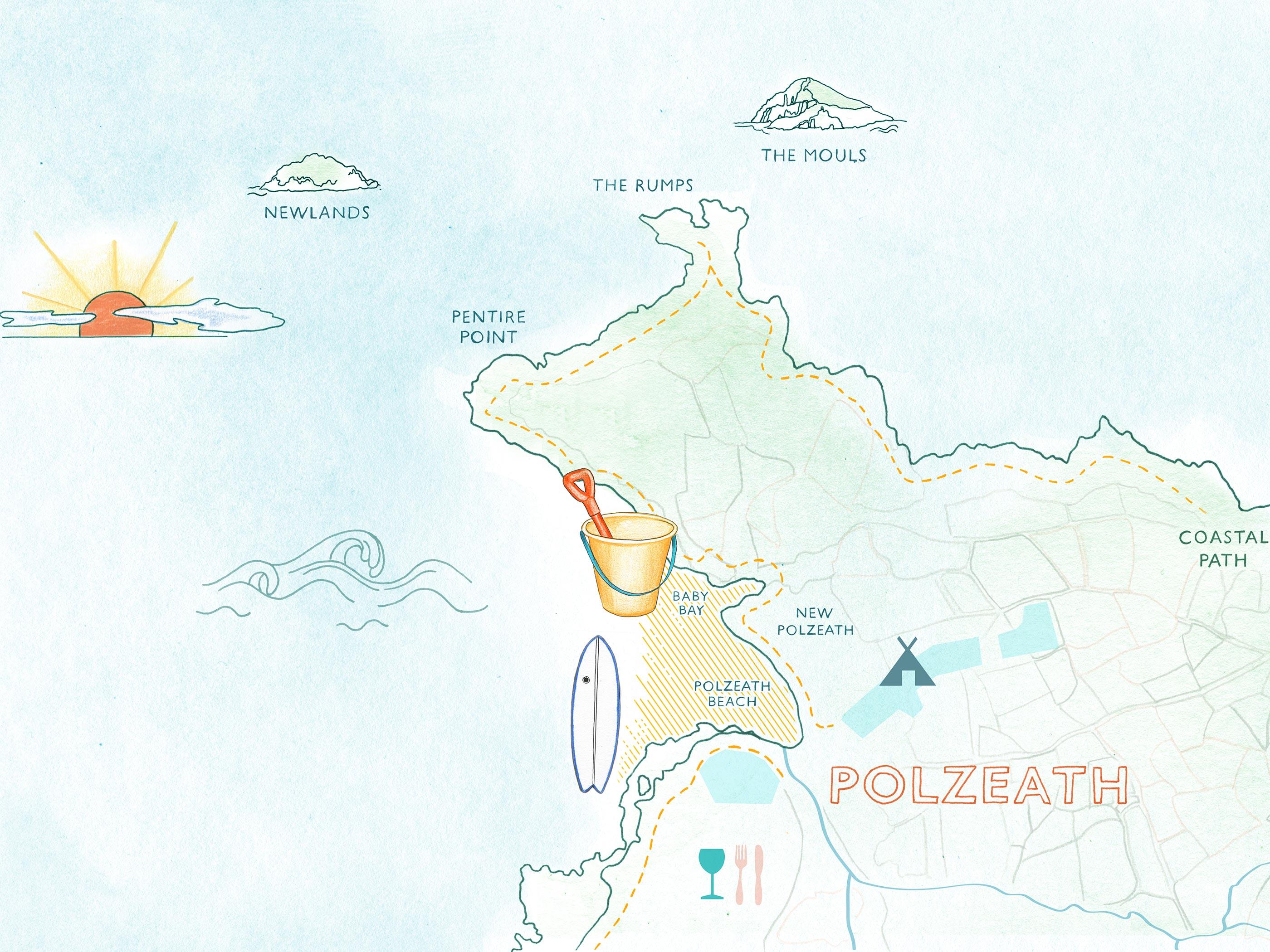 Map of Polzeath